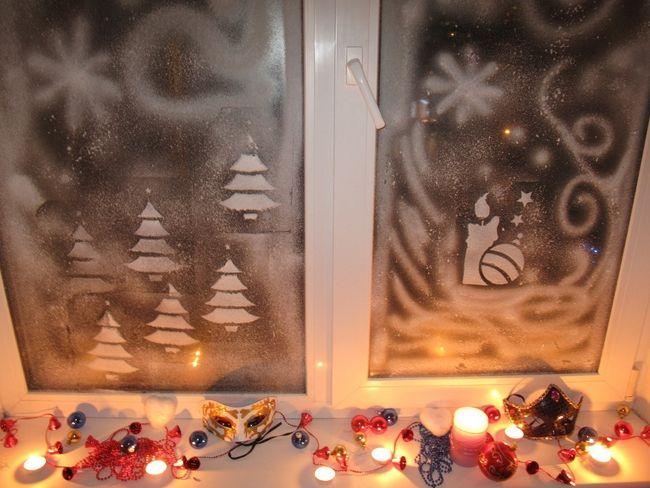 Gatavojam trafaretus svētku logiem!
